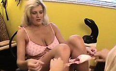 Both hands in their spread hole