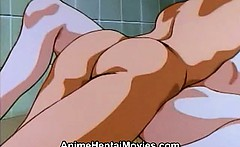 Hot woman fucked hard in the bathroom - anime hentai movie