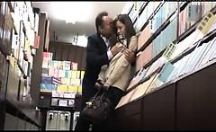 Japanese Schoolgirl Public Sex In The Bookstore