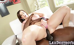 Sarah loves hot creampie from black cock