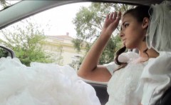 Runaway bride Amirah Adara pounded with stranger in a car