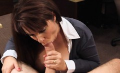 Busty milf pussy pounded with pawnkeeper to earn money