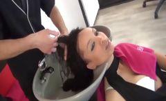 Carla fucked in an hair salon