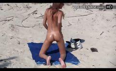 nudist teen at beach