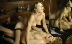 Hardcore vintage sex action with hot brunette getting banged and blowing 
