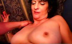 Big tits mature wife blowjob