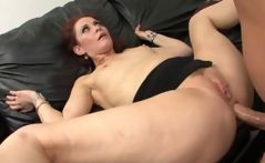 Redhead MILF Chloe eats a big cock and gets it stuffed in her ass