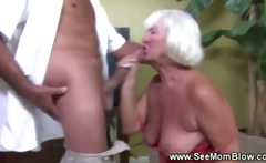 Granny goes down on cock like in the good old days