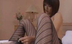 Japanese mature lady enjoys sex