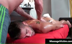 Attractive gay comes for a massage