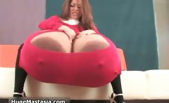Busty brunette whore goes crazy rubbing