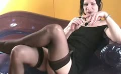 Hot dark haired MILF slut with sexy ass