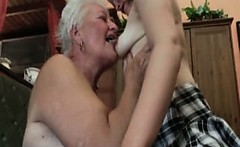 Horny grandma having horny sex