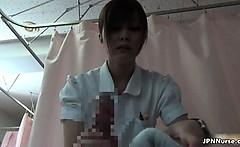 Sexy asian nurse goes crazy